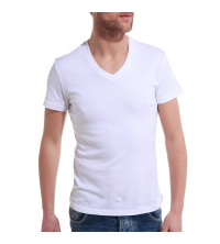 royal: T-shirt Homme blanc