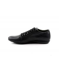 FAMOSO: Chaussures à lacets Noir 610 Famoso