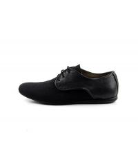 FAMOSO: Chaussures à lacets Noir 700-N Famoso