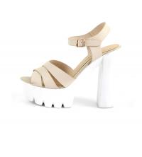 LAURA BERTI: Sandales compensées Beige