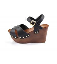 Sandales compensées Noir - 2249-1-N