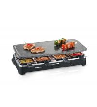 Grill raclette multifonctions avec pierre de cuisson