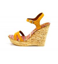 Sandales compensées Jaune moutarde P1817-3-JM