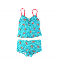 Tankini +Shorty de bain imprimé tropical femme