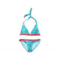 Haut de maillot de bain triangle + Culotte de maillot imprimé tropical