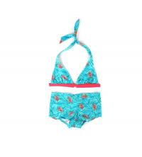 Haut de maillot de bain triangle + shorty de bain imprimé tropical