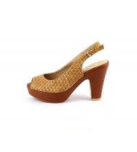 SIT7 Sandales à talon Camel - 3058-19-C