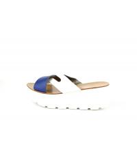 FIDEL Mules Blanc & Bleu - B55-BB