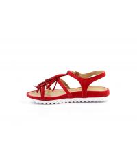 JINES Sandales Plats Rouge 924-RG