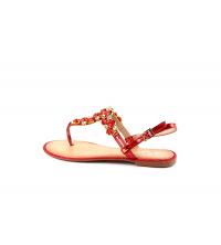 SELINE Sandales plats Rouge OM3329-5-RG