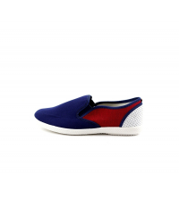 Basket basse Homme - 062-bleu&rouge