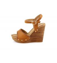 SELINE Sandales Compensées Camel - AC6005-4-CL