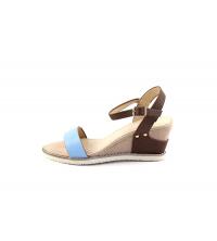 SIT7 Sandales compensées Bleu ciel 888-7-B