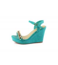 MOOW-Sandales compensées - Turquoise - ME14169-TU