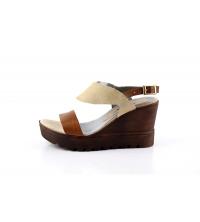 MATADOR Sandales Compensées Beige - 3001-C