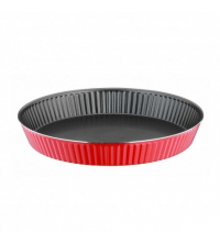 Moule à cake Tart en téflon rouge Redio