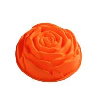 MSY SILICONE Rose Moule à gâteau orange