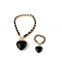 AMULETTE PACK Collier + Bracelet Noir