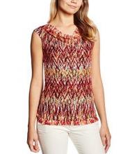 s.Oliver Premium T-Shirt femme imprimé orange 06-606-33-5177-21B6