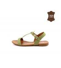 FIORE Sandales plats Vert