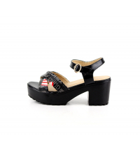 Sandales à talon Noir - 085-1-NR