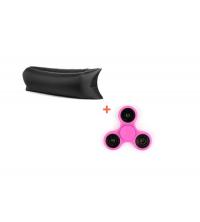 LAZY BAG Noir + HAND SPINNER ROSE GRATUITE