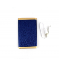 POWER BANK SIMILI-CUIR Bleu 4000 mAh
