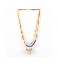 Collier style indien orangé
