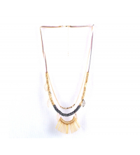 Collier style indien rose