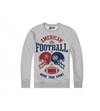 Sweatshirt Gris American football