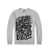 Sweatshirt Gris Liberty or Death