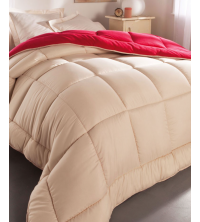 Couette Beige-Rouge