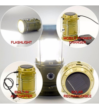Rechargeable Solar Lantern with Powerbank