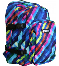 Pause Blue Strips Backpack 18""