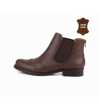 Bottines femmes marron
