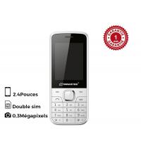 Telephone Power X30 - Blanc & Rouge