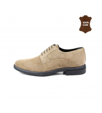 Chaussure Homme Daim Taupe