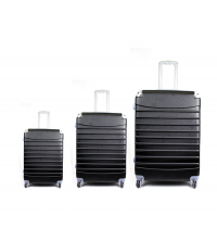 3 pièces valises de voyage Noir