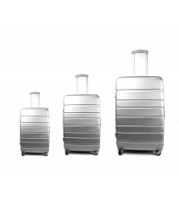3 pièces valises de voyage argent