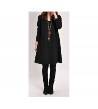 Robe Milano noir pour femme