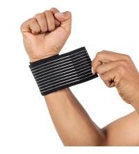 1 paire 40*7.5 cm coton élastique bandage main bracelet sport gym soutien poignet brace wrap fitness tennis polsini bande munh