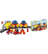 Jeu de conception Blocs Train and Fire Service 42 éléments son