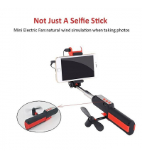 Perche Selfie - Light fan power bank - Rouge & Noir