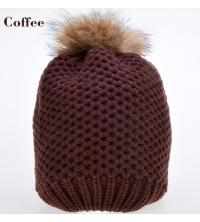 Bonnet café en laine