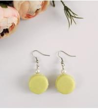 Boucles d'oreilles Macaron Citron