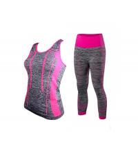 Respirant Femmes Survêtement Remise En Forme Sans Soudure Push Up + Pantalon Leggings 2 Pcs Set Entraînement SportWear
