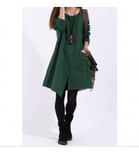 Robe Milano Vert pour femme avec poche