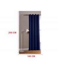 panneaux de rideaux bleu marine