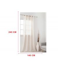 panneaux de rideaux Blanc voile
