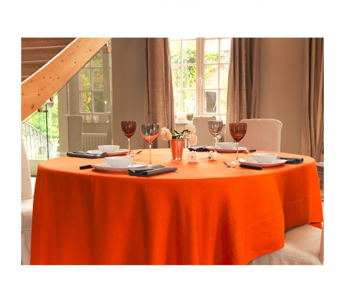 nappe ovale orange. Black Bedroom Furniture Sets. Home Design Ideas